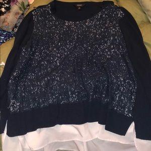 3x blue sweater